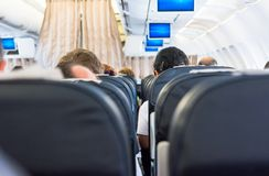 Airplane interior. Stock Images