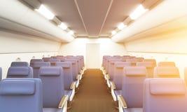 Airplane interior toning Stock Photos