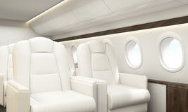 Airplane interior Stock Photography