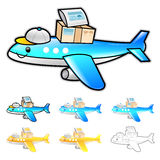 Airplane International Shipping Illustration. Product and Distri Royalty Free Stock Photos