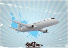 Airplane island Royalty Free Stock Photos