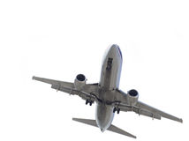 Airplane Isolated on White Stock Image