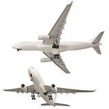 Airplane isolated on white background Stock Photos
