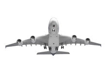 Airplane isolated on white background with clipping path Stock Images