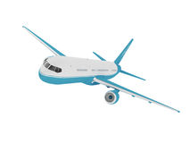 Airplane isolated on a white background. 3D rendering Stock Photos