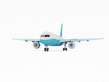 Airplane isolated on a white background. 3D rendering Royalty Free Stock Photography