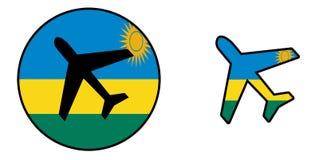 Airplane isolated on white - Rwanda Royalty Free Stock Image