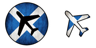 Airplane isolated on white - Scotland stock illustration