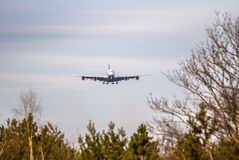 Airplane ist landing Stock Photo