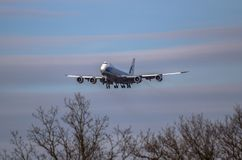 Airplane ist landing Stock Images
