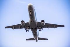 Airplane ist landing Royalty Free Stock Photo