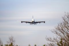 Airplane ist landing Royalty Free Stock Images