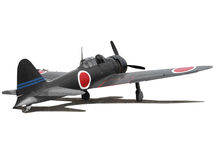 Airplane Japanese Zero Stock Image