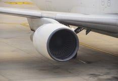 Airplane jet engine Stock Image