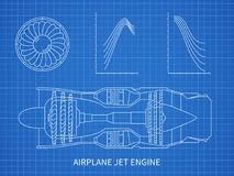 Engine line drawing blueprint stock vector illustration of airplane jet engine with turbine vector blueprint design royalty free illustration malvernweather Images