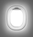 Airplane or jet gray window. Or porthole Stock Photos