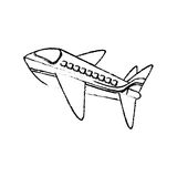 Airplane jet isolated. Icon  illustration graphic design Royalty Free Stock Photos