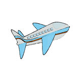 Airplane jet isolated. Icon  illustration graphic design Stock Photography