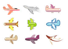 Airplane, jet - isolated vector icon Royalty Free Stock Images