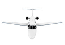 Airplane Jet Isolated. On white background. 3D render Royalty Free Stock Image