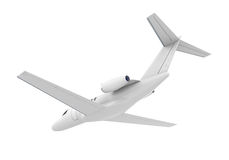 Airplane Jet Isolated. On white background. 3D render Royalty Free Stock Photography