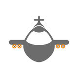 Airplane jet symbol. Icon vector illustration graphic design Royalty Free Stock Images