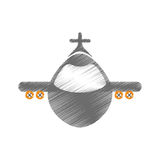 Airplane jet symbol. Icon vector illustration graphic design Royalty Free Stock Photography