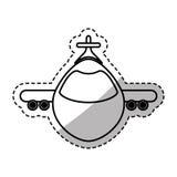 Airplane jet symbol. Icon vector illustration graphic design Royalty Free Stock Image
