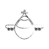 Airplane jet symbol. Icon vector illustration graphic design Royalty Free Stock Photo