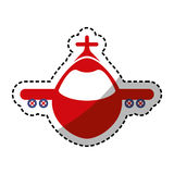 Airplane jet symbol. Icon vector illustration graphic design Stock Photos