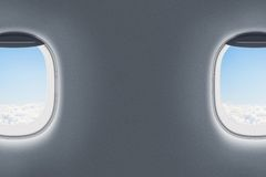 Airplane or jet windows interior Stock Image