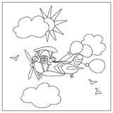 Airplane kids Coloring Page Royalty Free Stock Image