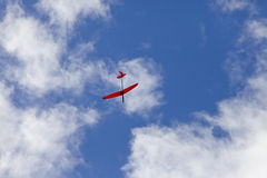 Airplane kite flying on sky Royalty Free Stock Photography