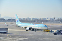 Airplane of Korean Airline Royalty Free Stock Photo