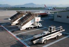 Airplane ladder on runway Royalty Free Stock Photos