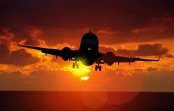 Airplane Landing Stock Images