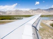 Airplane Landing Royalty Free Stock Photo