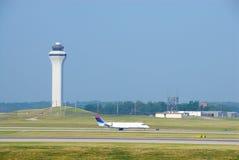 Airplane Landing royalty free stock photos