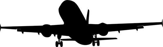 Airplane landing Stock Photography