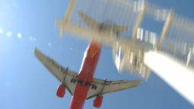 Airplane landing stock video