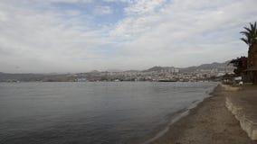 Airplane is landing at Eilat, Israel stock video