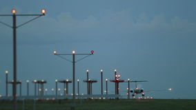 Airplane Landing Evening stock video footage