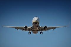Airplane landing Royalty Free Stock Photography