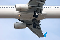Airplane landing gear Stock Images