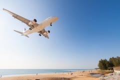 Airplane is landing Royalty Free Stock Image