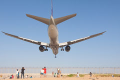 Airplane is landing Royalty Free Stock Photography