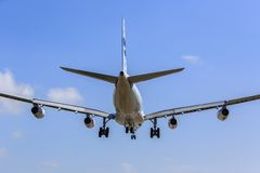 Airplane landing Rear View Stock Photos