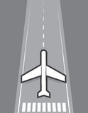 Airplane Landing or Taking Off Royalty Free Stock Image