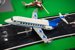 Airplane lego Royalty Free Stock Images