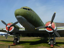 Airplane Li-2. In the Air Forces Museum Stock Photos